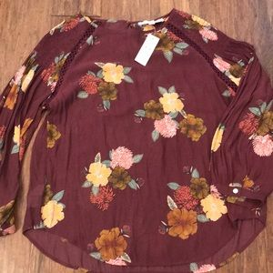 Ann Taylor Loft blouse shirt M new! Plum color